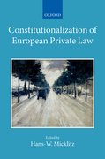 Cover for Constitutionalization of European Private Law