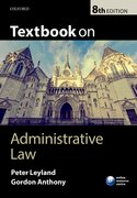 Cover for Textbook on Administrative Law