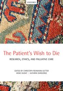 Cover for The Patient's Wish to Die - 9780198713982