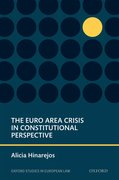 Cover for The Euro Area Crisis in Constitutional Perspective
