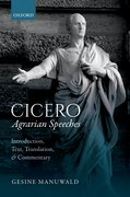 Cover for Cicero, <i>Agrarian Speeches</i> - 9780198715405