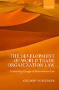 Cover for The Development of World Trade Organization Law