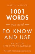 Cover for 1001 Words You Need To Know and Use