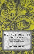 Cover for Horace: <i>Odes</i> II: Vatis Amici