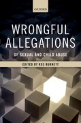 Cover for Wrongful Allegations of Sexual and Child Abuse