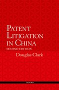 Cover for Patent Litigation in China 2e