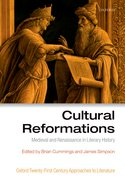 Cover for Cultural Reformations - 9780198724476