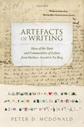Cover for Artefacts of Writing - 9780198725152