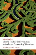 Cover for Second Treatise of Government and A Letter Concerning Toleration - 9780198732440