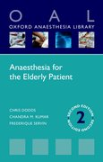 Cover for Anaesthesia for the Elderly Patient