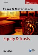Cover for Cases & Materials on Equity & Trusts