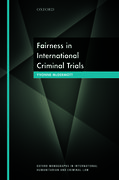 Cover for Fairness in International Criminal Trials