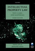 Cover for Intellectual Property Law