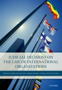 Cover for Judicial Decisions on the Law of International Organizations