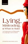 Cover for Lying, Misleading, and What is Said