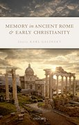 Cover for Memory in Ancient Rome and Early Christianity