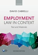 Cover for Employment Law in Context