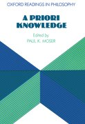 Cover for A Priori Knowledge