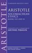 Cover for Aristotle: Nicomachean Ethics, Books VIII and IX