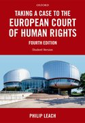 Cover for Taking a Case to the European Court of Human Rights