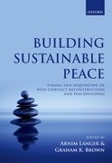 Cover for Building Sustainable Peace - 9780198757276