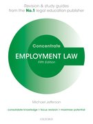 Cover for Employment Law Concentrate