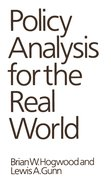 Cover for Policy Analysis for the Real World