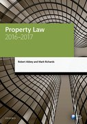 Cover for Property Law 2016-2017