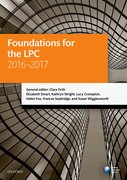 Cover for Foundations for the LPC 2016-2017