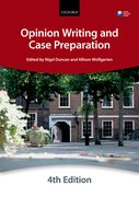 Cover for Opinion Writing and Case Preparation