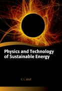 Cover for Physics and Technology of Sustainable Energy