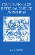 Cover for Foundations of Rational Choice Under Risk
