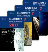 Cover for Blackstone's Police Manuals 2017: Four Volume Set - 9780198783046