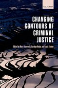Cover for Changing Contours of Criminal Justice