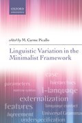 Cover for Linguistic Variation in the Minimalist Framework