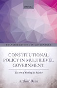 Cover for Constitutional Policy in Multilevel Government