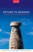 Cover for Return to Meaning - 9780198787099