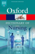 Cover for A Dictionary of Nursing - 9780198788454