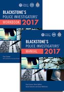 Cover for Blackstone's Police Investigators' Manual and Workbook 2017 - 9780198788867