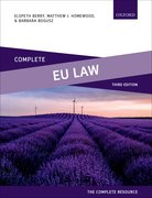 Cover for Complete EU Law - 9780198790976