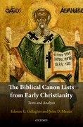 Cover for The Biblical Canon Lists from Early Christianity