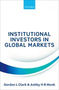 Cover for Institutional Investors in Global Markets - 9780198793212