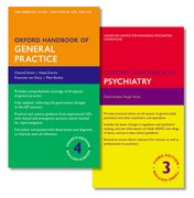 Cover for Oxford Handbook of General Practice and Oxford Handbook of Psychiatry