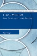Cover for Legal Monism