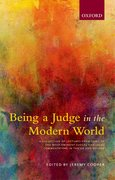 Cover for Being a Judge in the Modern World