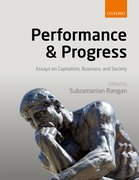 Cover for Performance and Progress - 9780198799573
