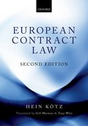 Cover for European Contract Law - 9780198800040