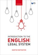 Cover for Introduction to the English Legal System 2017-2018