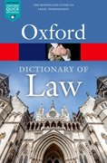 Cover for A Dictionary of Law - 9780198802525