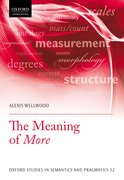 Cover for The Meaning of <i>More</i>